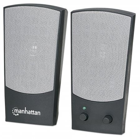 BOXE Manhattan USB Powered, 2x 2W, Black/Gray, Retail Box  0