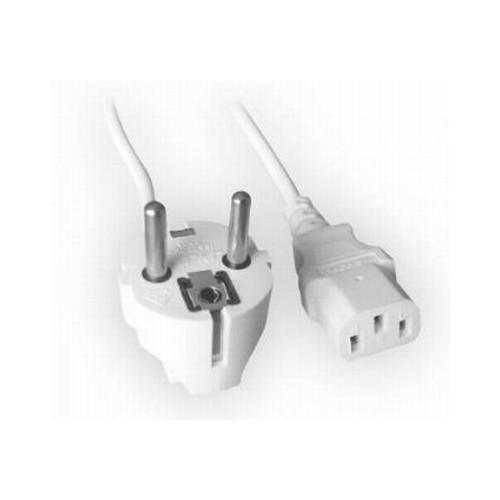 Cablu Alimentare cu priza Shuko cu impamantare si pini de 4.9mm, lungime cablu: 1.8m, bulk, Alb, GEMBIRD  0