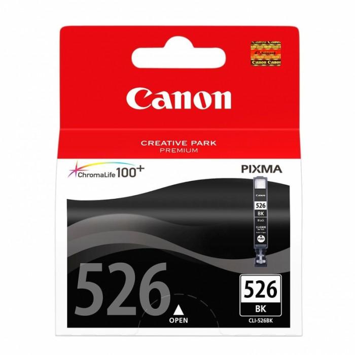 Cartus cerneala Original Canon CLI-526BK Negru, compatibil Canon Pixma iP4850, mg5150/5250/6150/8150  0