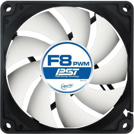 "FAN FOR CASE ARCTIC   ""F8 PWM PST"" 80x80x25 mm, w/ PWM & cablu PST, low noise FD bearing (AFACO-080P0-GBA01) 0"