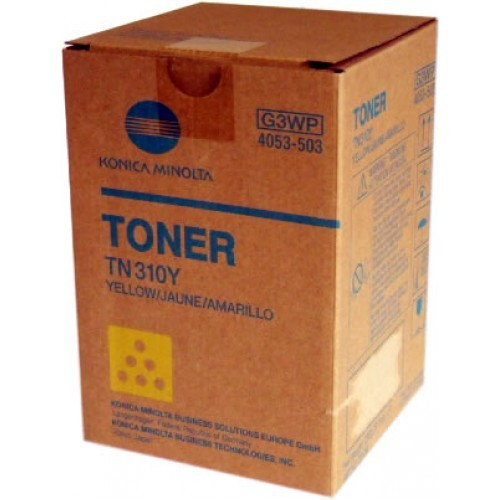 Toner Original pentru Konica-Minolta Yellow TN-310Y, compatibil BizHub C350/351/450, 11500pag  0