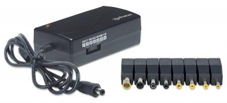 Alimentator notebook, 70 W, 12-24 V, 10 DC plug tips, Black, Retail Box  0