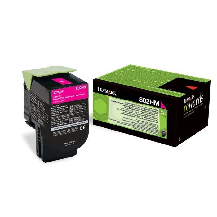 Toner Original pentru Lexmark Magenta 802HM, compatibil CX310/410/510, 3000pag  0