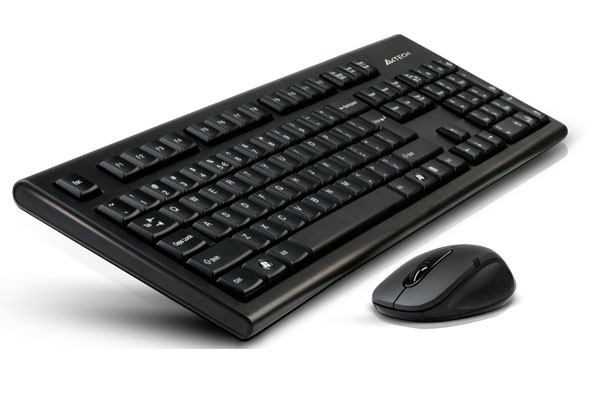 Kit tastatura+mouse Wireless A4TECH Padless, black  0