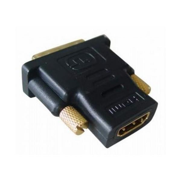 Adaptor HDMI 19 pini la DVI mama-tata, conectori auriti, bulk, Negru, GEMBIRD  [0]