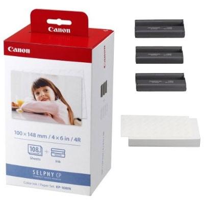 Cartus cerneala Original Canon KP-108IN Color, compatibil CP-400, hartie foto bonus  0