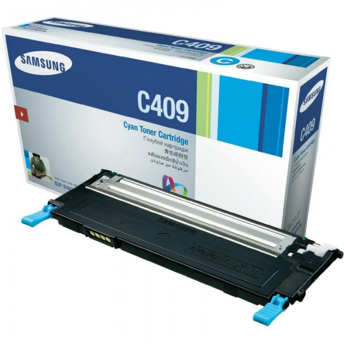 Toner Original pentru Samsung Cyan, compatibil CLP-310/315/CLX-3170/3175, 1000pag  0