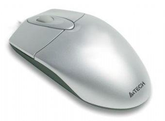 Mouse A4tech PS2 optic Silver , wired cu 2 butoane si 1 rotita scroll, rezolutie 800dpi 0