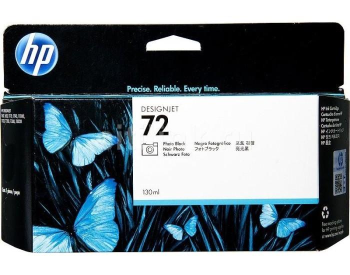 Cartus cerneala Original HP Black Photo 72 w.Vivera ink, compatibil DesignJet T1100/1120/1200/1300/2300/T610/620/770/790, 130ml  [0]