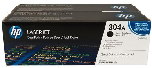 Toner Original pentru HP Negru Dual Pack, compatibil CP2025/CM2320 w.ColorSphere, 2x3500pag  [0]