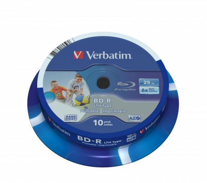 BD-R Verbatim SL LTH 6X 25GB 10PK SPINDLE WIDE PRINTABLE  0
