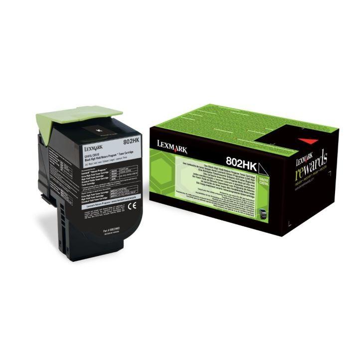 Toner Original pentru Lexmark Negru 802HK, compatibil CX310/410/510, 4000pag  0