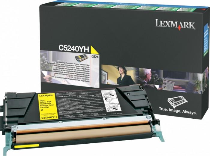 Toner Original pentru Lexmark Yellow, compatibil C524/534, 5000pag  [0]
