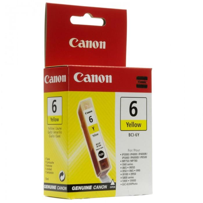 Cartus cerneala Original Canon BCI-6Y Yellow, compatibil S800  [0]