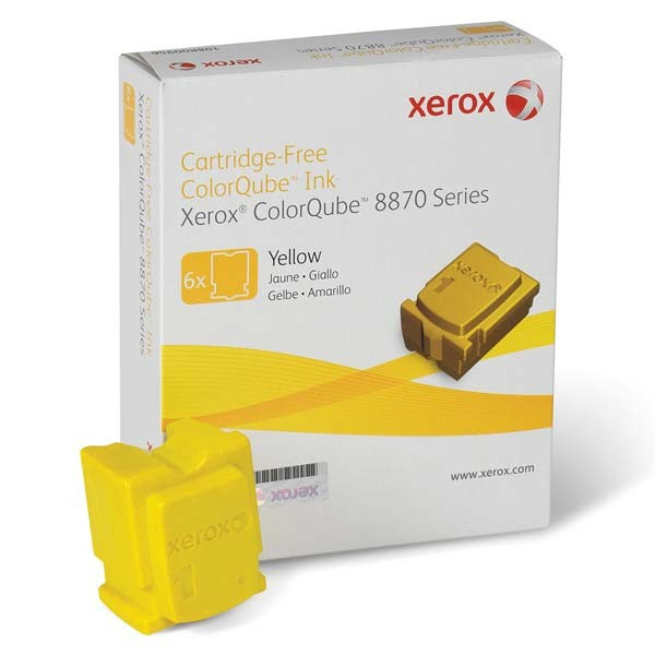 Cartus cerneala Original Xerox Yellow, compatibil ColorQube 8870, 6 sticks, 17300 pag  0