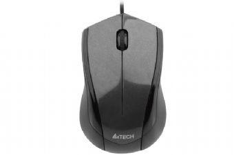 Mouse Optic USB A4TECH V-Track , wired cu 3 butoane si 1 rotita scroll, rezolutie 1000-2000dpi si cablu 150cm, Negru 0