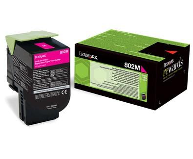 Toner Original pentru Lexmark Magenta 802M, compatibil CX310/410/510, 1000pag  0