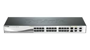 """PoE (Power Over Ethernet) Switch Smart  24-port-uri PoE 10/100 + 2 port-uri gigabit + 2 combo ports, D-Link """"DES-1210-28P"""" 0"""