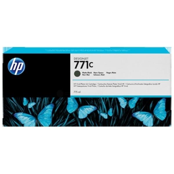 Cartus cerneala Original HP Black Matte 771C, compatibil DesignJet Z6200, 775ml  0