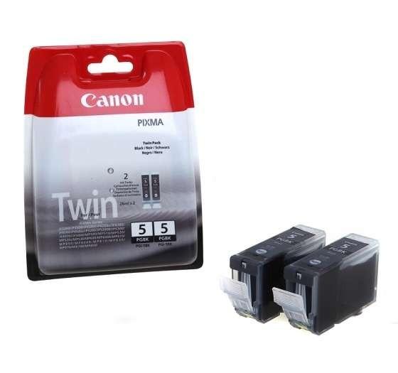 Cartus cerneala Original Canon PGI-5BK Negru, Twin Pack, compatibil iP4200, 2 x 26 ml  0