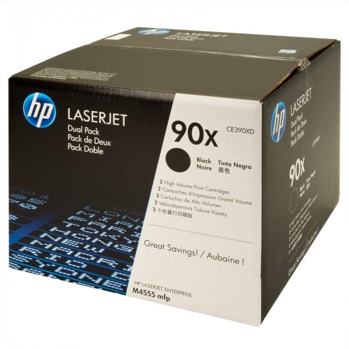 Toner Original pentru HP Negru Dual Pack, compatibil LJ M4555 mfp 90X w.SmartPrinting, 2x24000pag  0