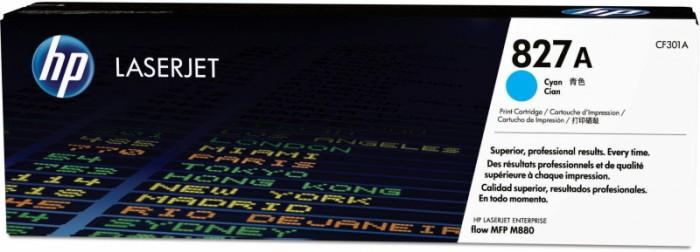 Toner Original pentru HP Cyan 827A, compatibil M880z, 32000pag  0