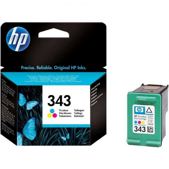 Cartus cerneala Original HP Tri-color 343, compatibil DJ460C/57xx/65xx/PSC1510/1600/2xxx, 7ml, 260pag  [0]