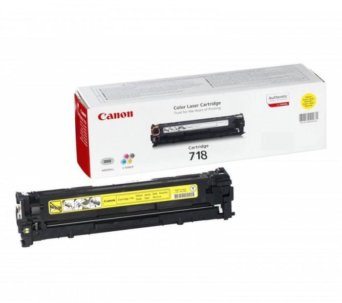 Toner Original pentru Canon Yellow CRG-718Y, compatibil LBP7200CDN, 2900pag  [0]