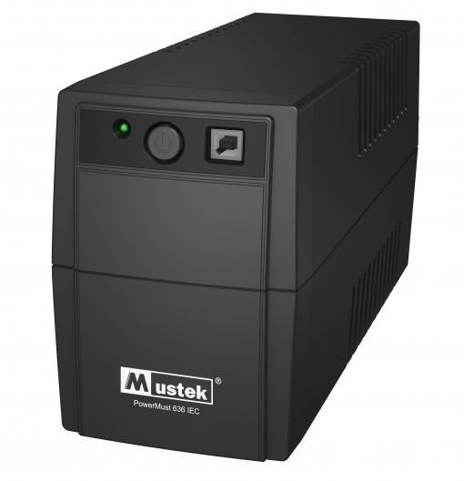UPS  MUSTEK PowerMust  636 (650VA) Line Interactive, IEC  0