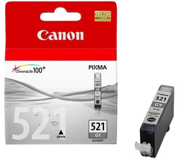 Cartus cerneala Original Canon CLI-521GY Grey, compatibil iP3600/iP4600/MP540/MP620  0