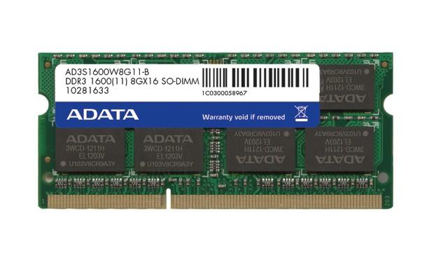 ADATA SODIMM 4GB DDR3 1600MHz Bulk  0