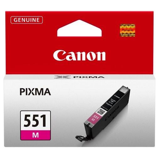 Cartus cerneala Original Canon CLI-551M Magenta, compatibil IP7250/MG5450/MG6350  0