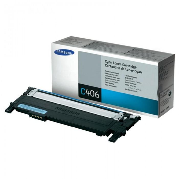 Toner Original pentru Samsung Cyan, compatibil CLP-360/365/CLX-3300/3305, 1000pag  0