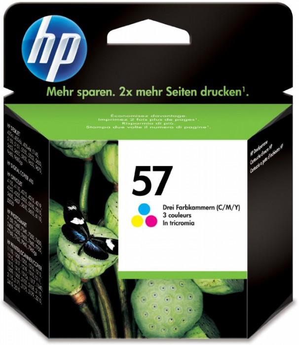 Cartus cerneala Original HP Tri-color 57, compatibil DJ450/5xxx/96xx/PSC1110/1xxx/2xxx, 17ml,  [0]