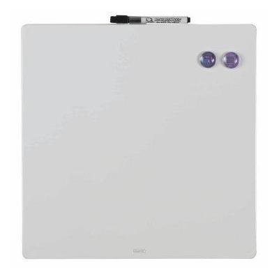 Tabla magnetica Quartet, fara rama, 360x360mm, include doi magneti, set montaj, marker nepermanent, white  0
