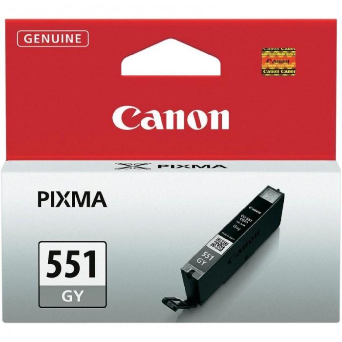 Cartus cerneala Original Canon CLI-551GY Grey, compatibil IP7250/MG5450/MG6350  0