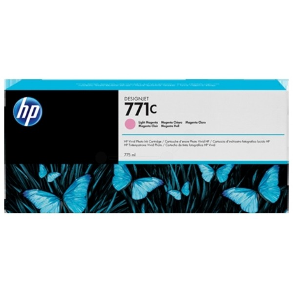 Cartus cerneala Original HP Magenta Light 771C, compatibil DesignJet Z6200, 775ml  0