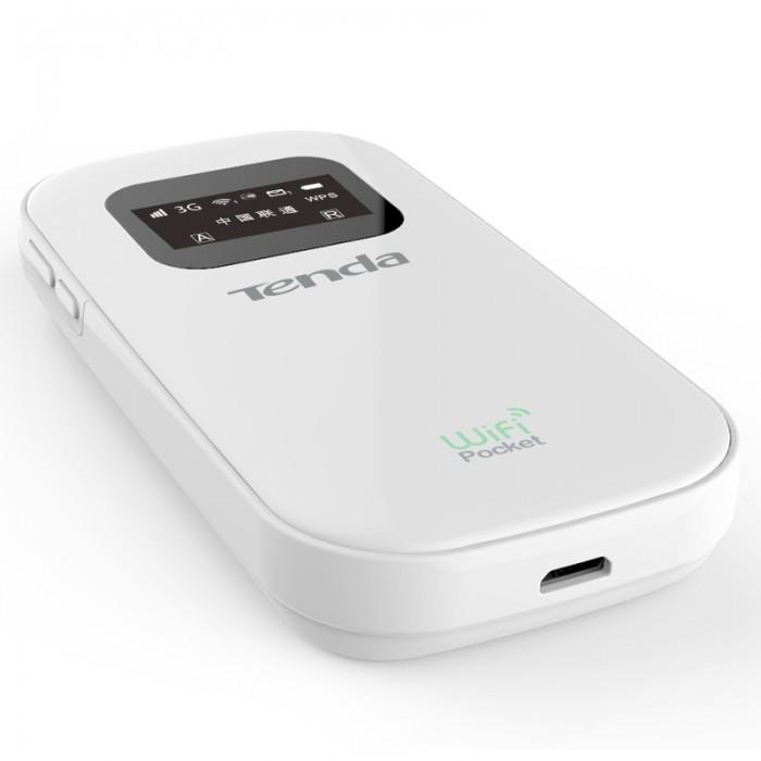 Router Wireless portabil 3G, modem incorporat, display OLED, Tenda 3G185 [0]
