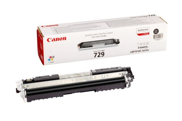 Toner Original pentru Canon Negru CRG-729B, compatibil LBP7018C, 1200pag  [0]