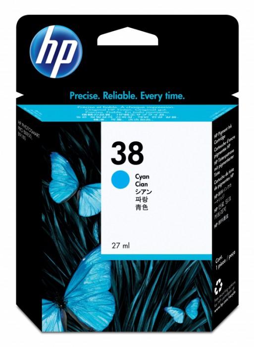 Cartus cerneala Original HP Cyan 38 w.Vivera ink, compatibil PhotoSmart B9180/Pro B8850/9180, 27ml  [0]