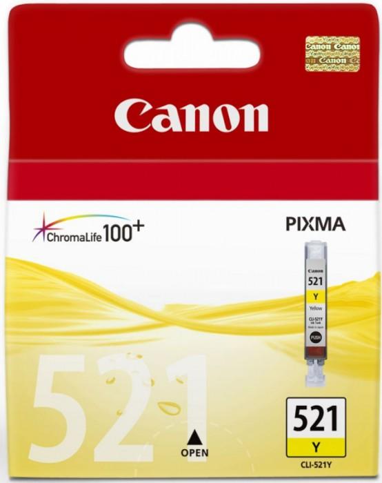 Cartus cerneala Original Canon CLI-521Y Yellow, compatibil iP3600/iP4600/MP540/MP620  0