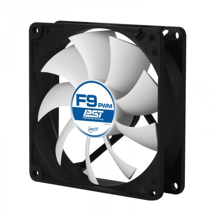 """FAN FOR CASE ARCTIC   """"F9 PWM PST"""" 92x92x25 mm, w/ PWM & cablu PST, low noise FD bearing (AFACO-090P0-GBA01) 0"""