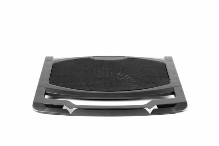 """Stand pentru Notebook de pana la 15.6"""", un ventilator de 140mm, conector USB, Negru, SPACER  0"""