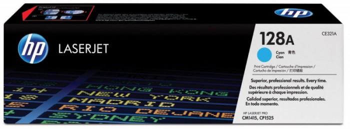 Toner Original pentru HP Cyan, compatibil CP1525/CM1415 128A, 1300pag  [0]