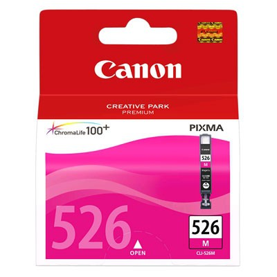 Cartus cerneala Original Canon CLI-526M Magenta, compatibil Canon Pixma iP4850, mg5150/5250/6150/8150  0