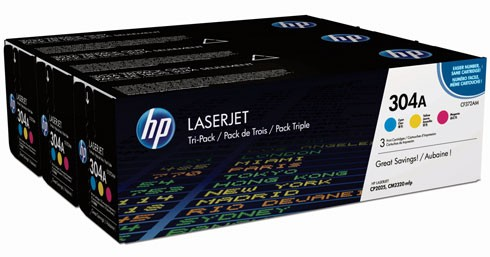 Toner Original pentru HP Color Tri-Pack 304A Cyan/Magenta/Yellow, compatibil CP2025/CM2320, 3x2800pag  0