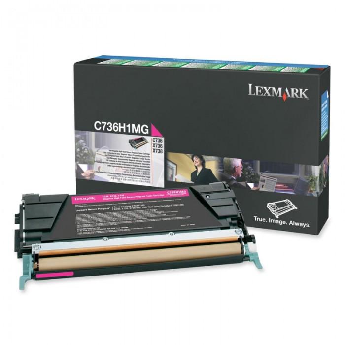 Toner Original pentru Lexmark Magenta, compatibil C736/X736/738, 10000pag  0