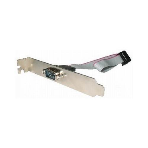 Cablu adaptor intern, conectori Serial Port IDC 10pin la DB9, lungime cablu: 25cm, suport metalic, bulk, GEMBIRD  [0]