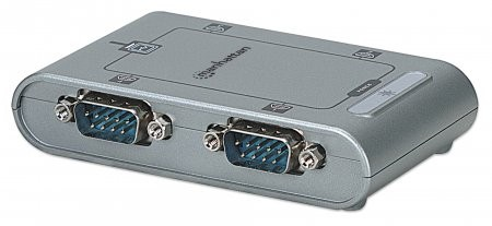 CABLU CONVERTOR  USB 2.0 la Serial Hi-Speed  USB B-female/4x DB9-male, Silver, Blister  0