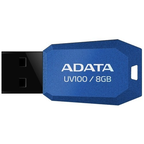 USB Stick ADATA UV100 8GB USB 2.0, Capless, Blue  0